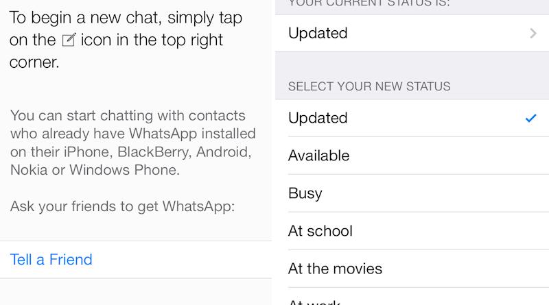 whatsapp ios 7